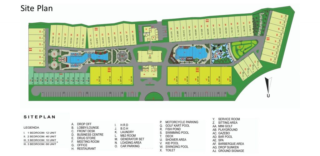 The Allure Villas-Siteplan